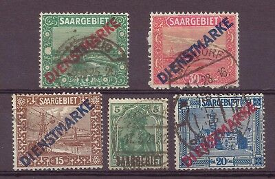 Saar, Official Use Issues, Used, 1920, 1922 - 1923, OLD