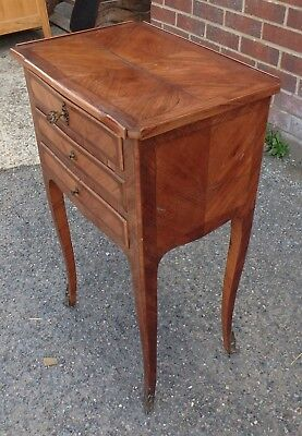 French Empire antique kingwood gilt bronze small writing side lamp desk table