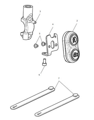 Triumph Motorcycles A9828031 Tiger 800 Switch Mounting Kit
