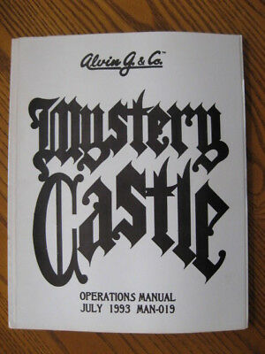 "Original Alvin G. ""MYSTERY CASTLE"" Pinball Instruction Manual"