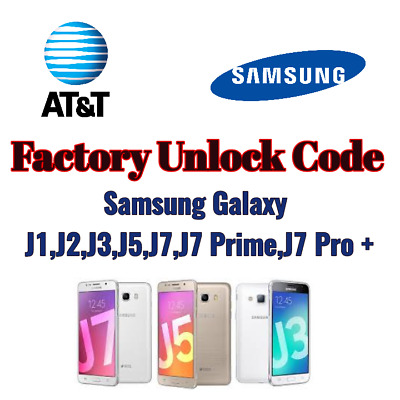 Unlock Network Service PIN Code For ATT Samsung Galaxy J1 J2 J3 J5 J7 Pro +