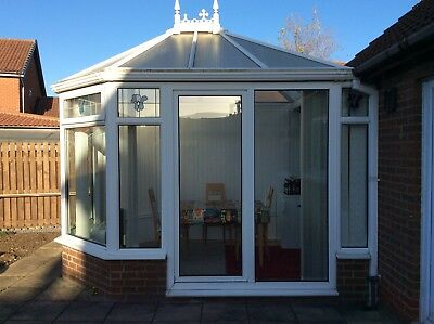 Conservatory White UPVC 14ft X 11ft Double glazed sliding door COLLECTION ONLY