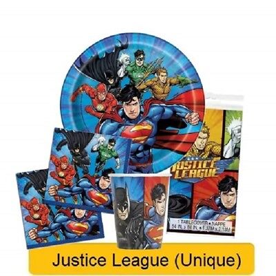 JUSTICE LEAGUE Birthday Party Range Tableware Supplies Decorations DC Heroes{UQ}