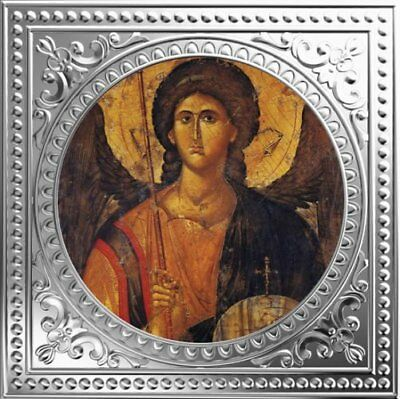 Archangel Michael Early Byzantine Icon 2018 $1 Pure Silver Coin Niue