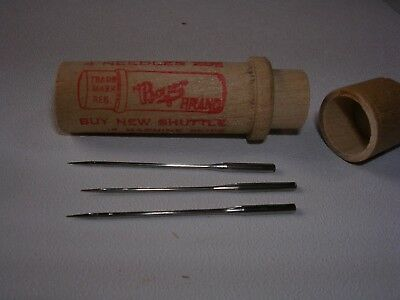 WHITE 3 Boye Needles 20x1 Vibrating Shuttle Antique Sewing Machine Treadle