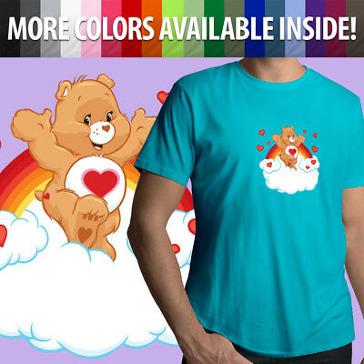 0466ba8a Care Bears Tenderheart Bear Heart Classic Cartoon Unisex Mens Tee Crew T- Shirt