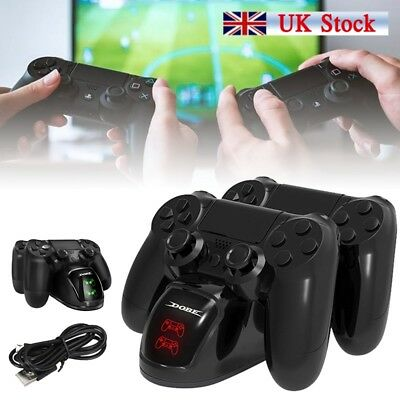 Dual Shock Charger Dock Fast Charger for PS4 Controller Gamepad Station M4T1H UK