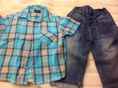 Next Boys S/Sleeved Shirt & Jeans