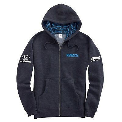 Subaru Rally Hooded Hoodie Full Zip Sti Official Genuine WRX NEW Racing JDM NEW