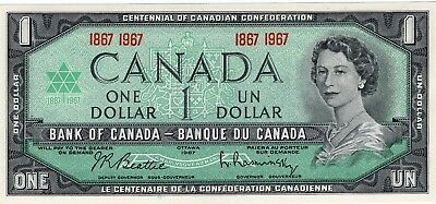 1967 Bank Of Canada $ 1 Bank  Note, Crisp Uncirculated.
