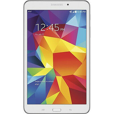 "New Samsung Galaxy Tab 4 Sm-T337A White 4G Lte Wi-Fi 8"" 16Gb Tablet Unlocked"