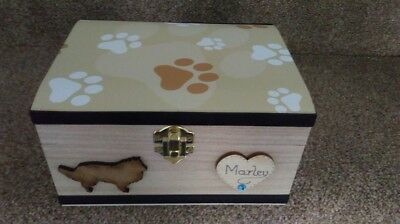 Dog Or Cat Pet In Loving Memory Wooden Box Ashes Casket Personalised Gift Urn