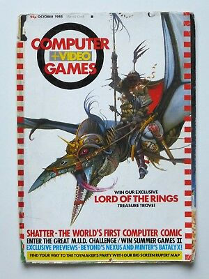 Computer And Video Games Magazine C&vg October 1985 Issue 48 Lord Of The Rings