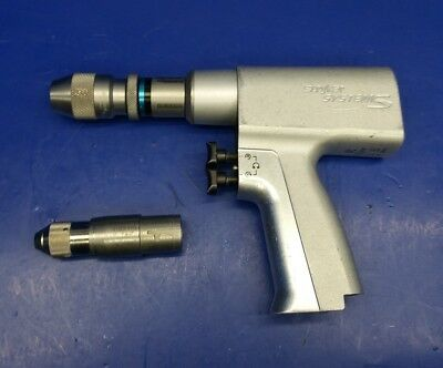 STRYKER SYSTEM 5 4205 Double Trigger Rotary Drill With 2 Attachments