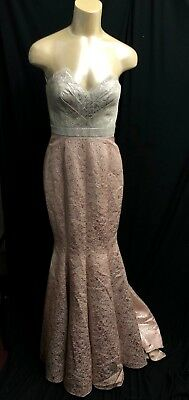 a300af947cb4 NEW BCBG Max Azria ATELIER Dress maxi long GOWN no sleeves mettalic *4 (#