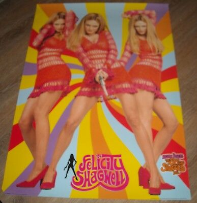 ROLLED 1999 UK HEATHER GRAHAM as FELICITY SHAGWELL AUSTIN POWERS PIN UP POSTER