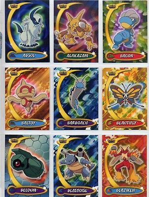 Complete Topps Pokemon Advanced Challenge Set! 90 'new from the pack' cards!
