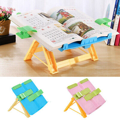 Book Stand Holder Portable Adjustable Bookstand Magazines Books Support Bookrest