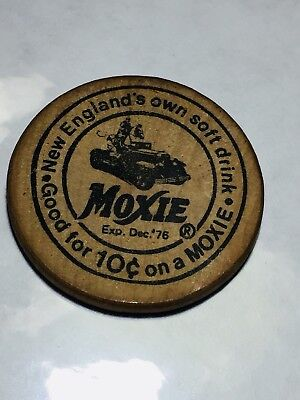 Moxie New England'S Own Soft Drink Wooden Nickel