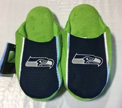 fef4a2ab0c5b Seattle Seahawks Youth Jersey Mesh SLIDE SLIPPERS New - FREE SHIPPING 16