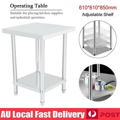 61x61x85cm Stainless Steel Kitchen Work Bench Top Food Grade Catering Prep Table