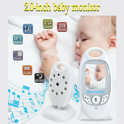 Wireless Video Baby Monitor 2 way Audio Safety Security Camera LCD Night Vision