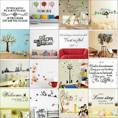 Quote Wall Stickers Vinyl Art Home Room DIY Decal Home Decor Removable Mural New