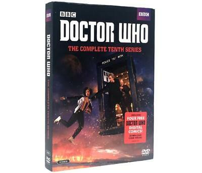 Doctor Who: The Complete Tenth Series (DVD, 2017, 5-Disc Set) Ships Fast Sealed