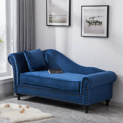 Surprising Princess Classic Navy Velour Chaise Lounge Sofa Chair Couch Gmtry Best Dining Table And Chair Ideas Images Gmtryco