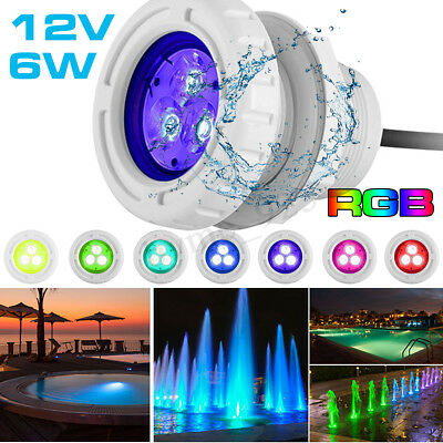 Swimming Pool RGB Light LED Underwater Disco Show Bath Tub Party Waterproof IP68