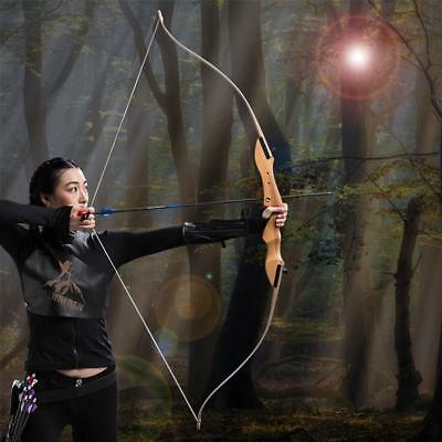 "62"" Traditional Archery Recurve Bow Takedown Longbow Shooting Hunting Right Hand"