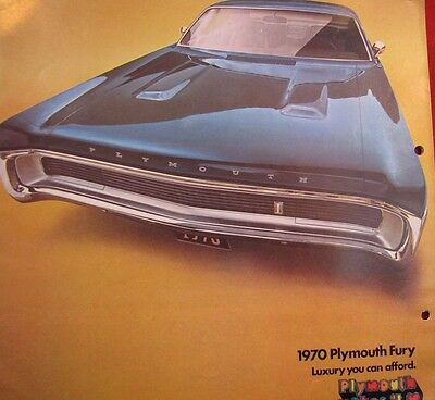 1970 Plymouth Fury I Ii Iii Original Sales Sport Fury Gt&s/23 Brougham Colors