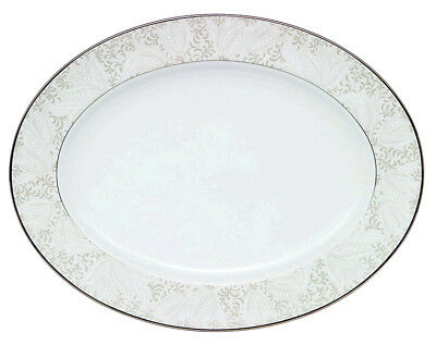 """Waterford China Bassano Large Oval Serving Platter 15.25"""" NEW"""