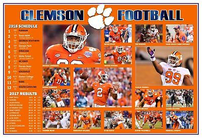 CLEMSON 2019 NATIONAL CHAMPIONS 2018 Football poster Tigers