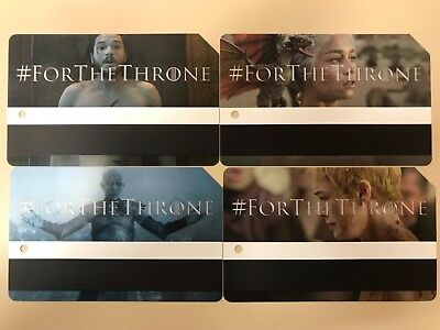 Game of Thrones MTA Metro Card NYC Limited Edition Set of 4
