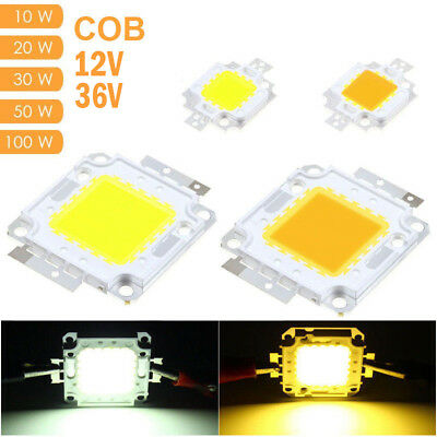 High Power 12V 10W, 36V 20W 30W 50W 100W DIY Flood Light COB LED Diode Chip Lamp