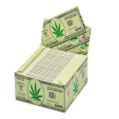 50 x Hornet Dollar King Size 110*54MM Rolling Papers 32 Leaves a Booklet Roller