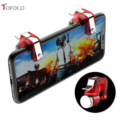 Metal Smart Mobile Phone Gaming Fire Button Trigger for PUBG Mobile Game Aim Key