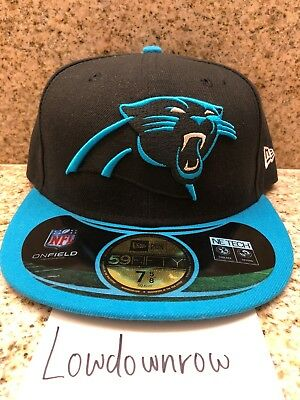 6af57adaa2b Carolina Panthers NFL New Era 59FIFTY On Field Sideline Fitted Hat Cap 7 5 8