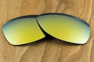 bee3c8efce Bright 24k Gold Iridium Polarized Mirror Replacement Lens for Oakley  Dispatch 2