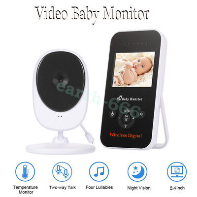 """NEW Digital Color LCD Baby Monitor Camera Night Vision Audio Video Wireless 2.4"""""""