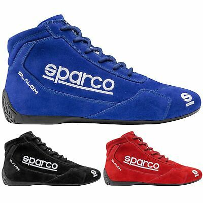 Sparco Slalom RB-3.1 Race Rally Boots Full Lace Suede And Leather FIA Approved