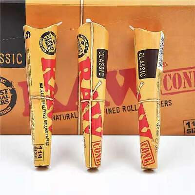 RAW 1 1/4 Size Cones 78mm Pre Rolled Tobacco Paper Rolling Cone Full Box X 32
