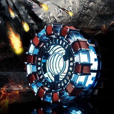 Arc Reactor Heart Props LED Light Chest Lamp Model Movie Kit USB Power Gifts Toy