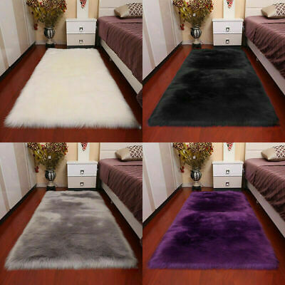 Super Soft Large Sheepskin Rugs Faux Wool Fluffy Plush Fur Rug Carpet Fur Mat
