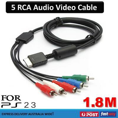 Audio Video Cord AV HD TV Cables 5 RCA Component For Sony PlayStation 3 PS3 PS2