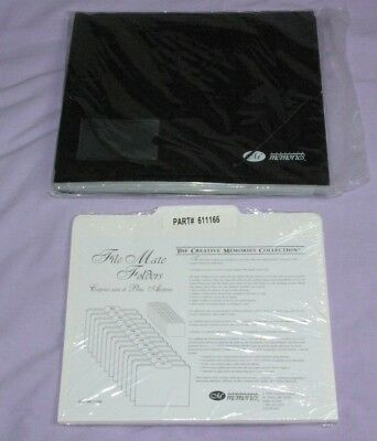 New Creative Memories Black File Mate Organizer & 13 White File Folders Sealed