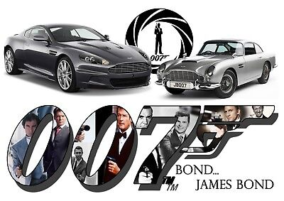 A4 007 Jame Bond Collage Based on the Film Photo Poster Print ONLY Wall Art