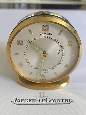 JLC Jaeger-LeCoultre 8 Day Miniature Memovox Alarm Clock - Superb Condition