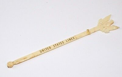 1955s SS United States Steamship Lines OCEAN LINER Swizzle Stick